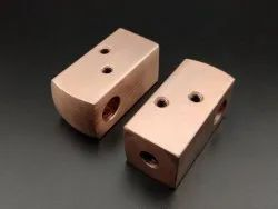 Polished Copper Machined Component, For Industrial