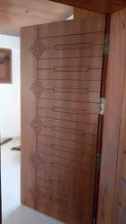 6.8 Feet Laminated Laminate Plywood Flush Door, For Home, For Home,Hotel & Office