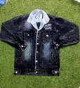 Full Sleeve Casual Jackets Men Party Wear Denim Jacket, Size: Large