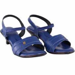 Hideshine Genuine Leather Casual Heels Sandal For Women's (blue)hs00044