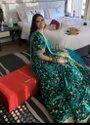 Present Velvet Lahenaga With Hevay Emboidery Work