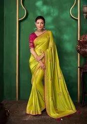 Corn Yellow Woven Paithani Saree