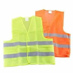 Yellow and Orange  Polyester Safety Vests