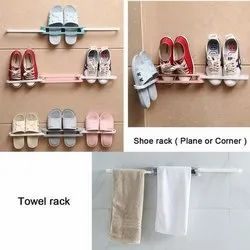 Plastic Double Layer Shoe Storage Stand
