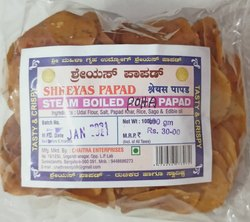 Steam Boiled Poha Masala Papad