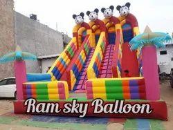 Cartoon Big Bouncy Slide