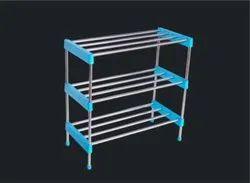 Zolon Stainless Steel 3 Shelves Shoe Stand, Shoe Rack Capacity: 15 Kg, Size: 79 X 52 X 32 Cm (h X L X W)