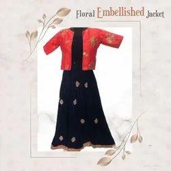 Offline Floral Embellished Jacket Stitching Service