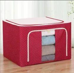 Red Printed Cloth Storage Bag, Capacity: 72 L