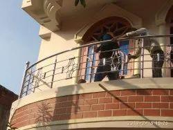 Silver Designer Stainless Steel Balcony Railings, For Home