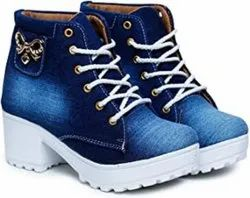 VKD Jeans High Heel (Ankle) Shoe Stylish Ideal for Girls