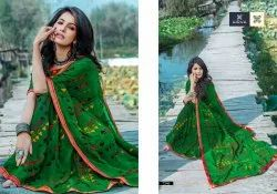 Hirva Multicolor Fancy Printed Casual Wear Saree, With Blouse Piece, 5.5 m (Separate Blouse Piece)