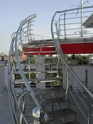 Round Bar Stainless Steel Staircase, For Home, Hotel, Material Grade: 304