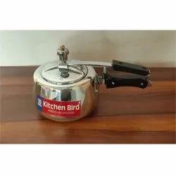 Kitchen Bird Wrought Aluminium 2 L Inner Lid Pressure Cooker, For Home