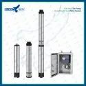 4 5HP AC CI Solar Submersible Pump Set With Controller