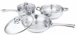 ILife Deluxe Stainless Steel Gas Compatible Induction Base Casserole Set Cookware Set
