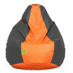 Orange And Black Mazingcart Classic Bean Bag