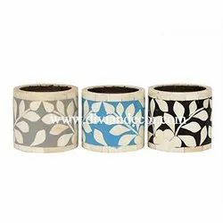 Dainty Bone Inlay Candle Holders/Candle Stand