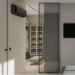 SOLTAIRE Aluminium SLIMLINE BLACKMATT PARTITION DOOR SLIDING PROFILE, For Home, Interior