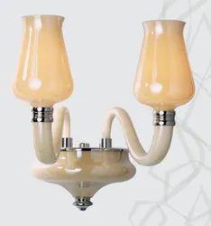Warm White Glass Jaquar Wall Lamps (KCH-CHR-MB150330022A), 240v Ac