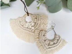 Earring Handmade Macrame Jewellery