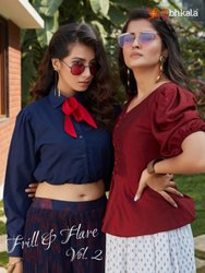 Multicolor Shubhkala Frill And Flare Vol 2 Cotton Kurti With Skirt Catalog