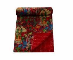 Frida Kahlo Cotton Kantha Bedcover