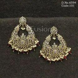 Fusion Arts Mehendi Polish Chandbali Earrings
