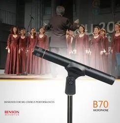 有线黑色公共声学声音麦克风,型号名称/数字:B-70