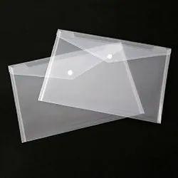 Muniraj Plastic Transparent Button File Folder, Paper Size: A4