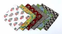 Assorted Cloth Reusable Table Napkins, light Weight Printed Cotton Fabric, kitchen Mix And Match
