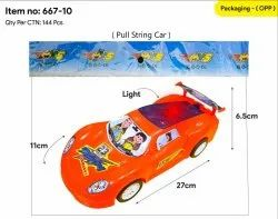 Red Plastic Toy Car, No. Of Wheel: 4