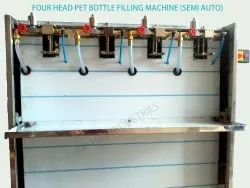 Semi Automatic Pet Bottle Soda Filling Machine