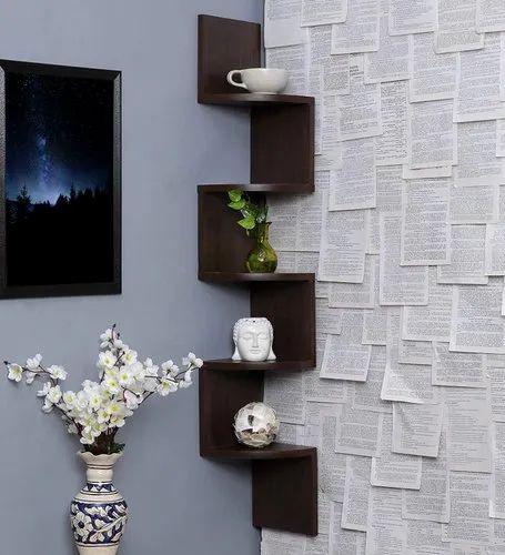 Zigzag Corner Wall Shelf