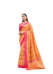 Shreyans 6.30 mts with blouse Vishnupuri Silk Saree, With Stitched Blouse