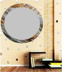 ieedee 18x18英寸设计师鲁德里尔圆玻璃镜,适用于浴室