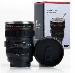 Camera Lens Coffee Mug Steel Insulated Travel Mug,Thermos (400 ML, Black)