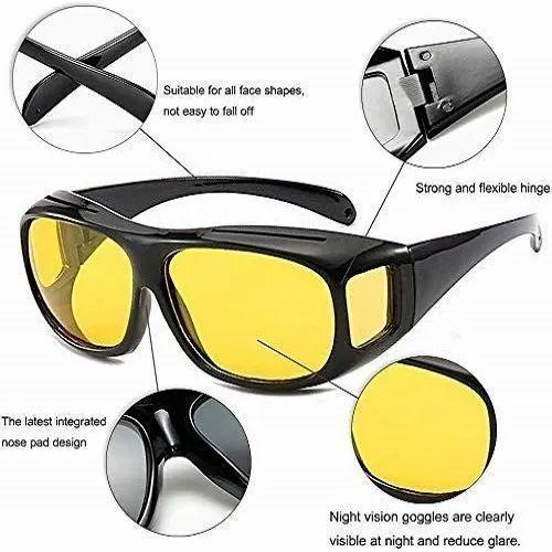 Hd Vision Goggles- Night Hd Vision Goggles Anti- Glare Polarized Uv Protected Sunglasses