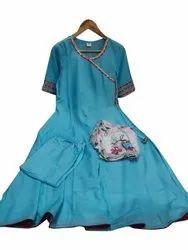 Rayon Stitched Ladies Designer Anarkali Suit, Dry clean