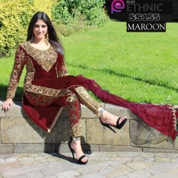 Leranath Fashion Pakistani Heavy Velvet Embroidery Design Ladies Suit