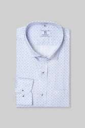 Boros 100% Cotton Blue Mist Mens Formal Shirt, Machine wash