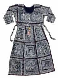 Cotton Anarkali Ladies casual wear umbrella ghera kurti, Wash Care: Machine wash
