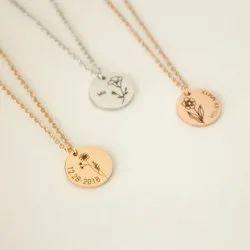 18 Inch Ladies Minimalist Silver Necklace
