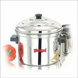 Silver Stainless Steel DIAMOND INEER LID IDLY COOKER JOINTLESS, For Home