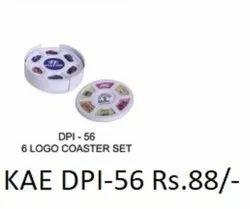 6 Logo Coaster Set