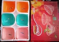 Sarvagya Traders Round Color Full Serving Bowl Set, Size: 150 Ml
