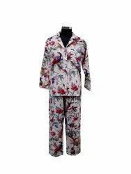 White Bird Print Night Suit