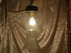 Glass Hanging Light Clear Cut