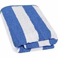 Seetex White and Blue Cotton Beach Towel