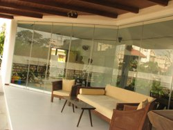 Sliding folding glass door system with Parking  bays